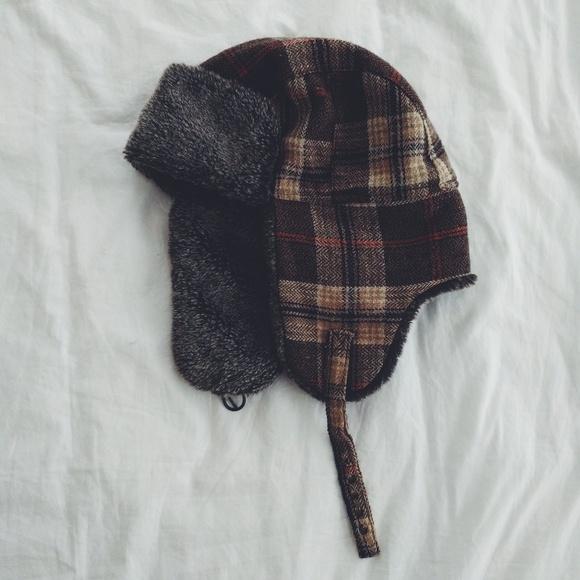 Accessories - Brown plaid bomber hat c71b47a997b